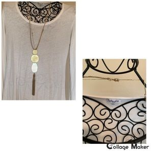 Like New Anthropologie Gold Long Necklace
